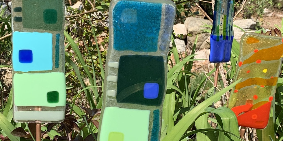 Fused Glass Garden Stake Class 2