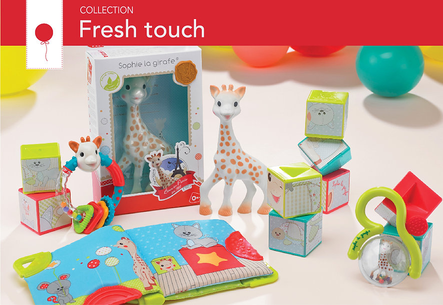 Fresh touch Sophie la girafe collection
