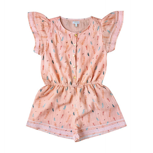 Moon Paris Penny Playsuit Papaya Leaves