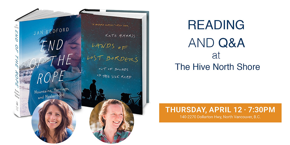 Kate Harris and Jan Redford Double Author Event