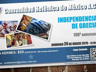 198° Aniversario de la Independencia de Grecia