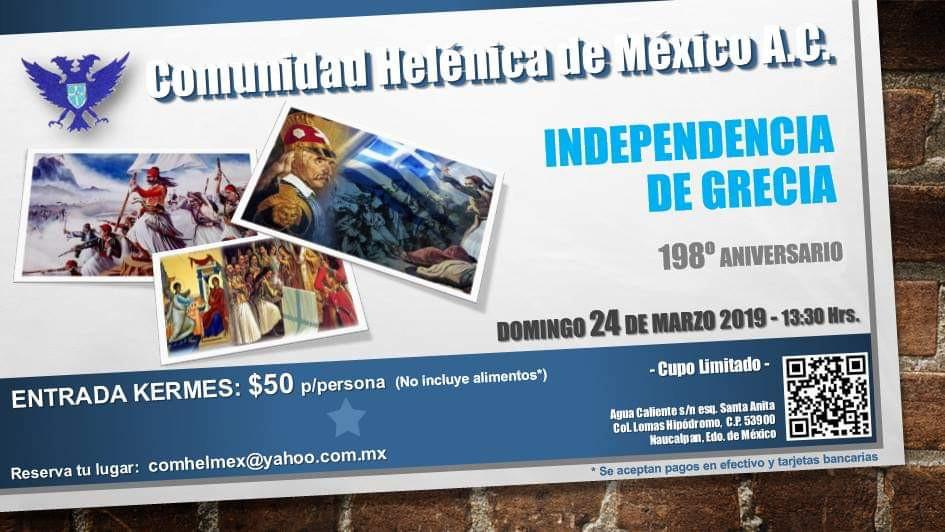 198 Aniversario de la Independencia de Grecia
