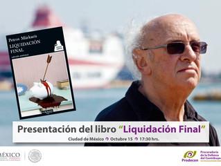 """Presentación del libro """"Liquidación Final"""" de Petros Márkaris: Invitación"""