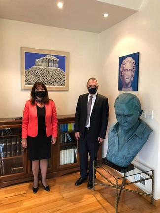 Visita del Sr. Andreas Katsaniotis, Viceministro de Relaciones Exteriores de Grecia