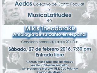 Concierto-Homenaje a Mikis Theodorakis: Invitación