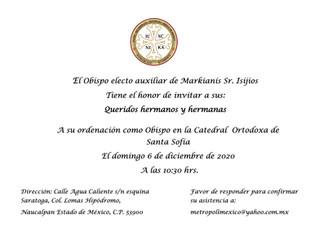 Ordenación del Padre Isihios como Obispo Auxiliar de Nuestra Catedral Ortodoxa Griega de Santa Sofía