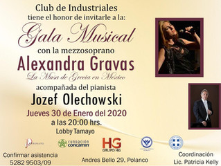 Concierto Alexandra Gravas: CAMBIO DE FECHA (jueves 30 enero 2020)