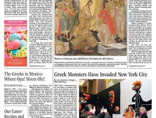 Celebración de la Fiesta de Independencia de Grecia en México: Artículo en The National Heral
