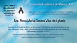 Sra. Rosa María Goutos Vda. de Lykaris
