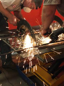 Grinding before weld