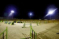 Disponemos de iluminacion para entrenamientos y competiciones nocturnas
