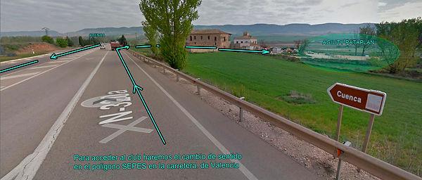 LLegada por la carretera de Valencia