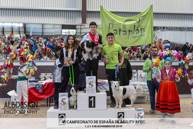 Alejandro Torres con Laska, medalla de bronce en el campeonato de España