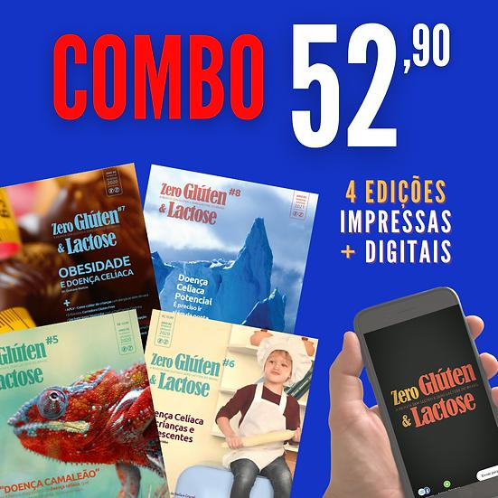 COMBO 4 EDIÇÕES IMPRESSAS +DIGITAIS