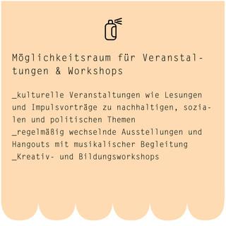 Möglichkeitsraum für Veranstaltungen & Workshops