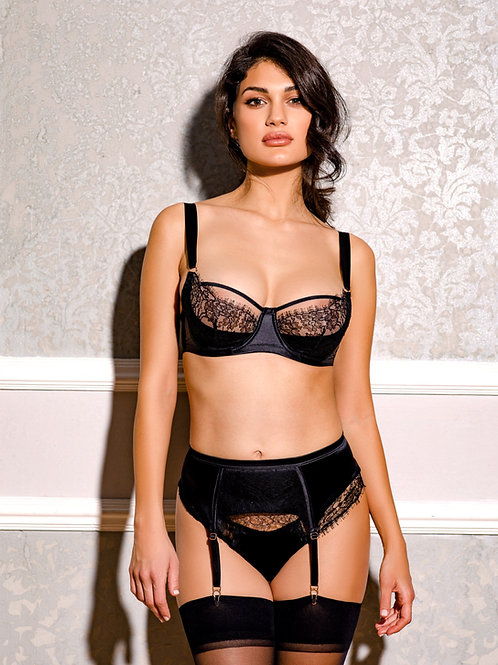 Dusk Leavers Lace Suspender