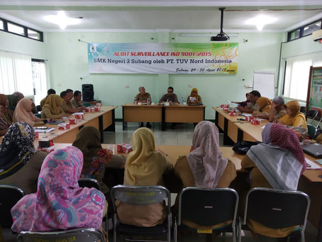 AUDIT SURVEILLANCE ISO 9001:2015 SMKN 2 SUBANG OLEH PT TUV NORD INDONESIA