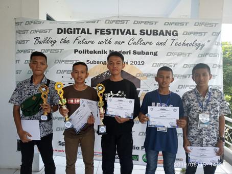 PRESTASI TARUNA SMK NEGERI 2 SUBANG DALAM DIGITAL FESTIVAL POLITEKNIK SUBANG