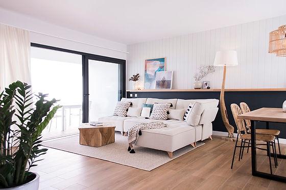 Interior design in Casilla de Costa, Fuerteventura. Living room industrial chic.