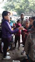 Medicine distribution to street families