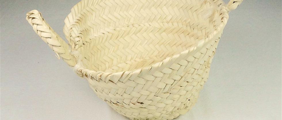 Mini panier DOUM en feuille de palmier dattier