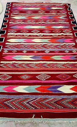 Tapis Kilim XL vintage grande taille 3,40 m x 1,90 m, grand sud Algérien