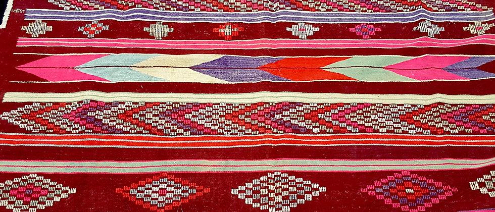 Tapis Kilim XL vintage grande taille, grand sud Algérien
