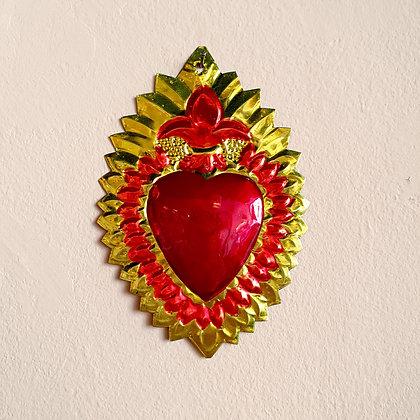 Coeur en feu Ex-voto Méxicain (#106)