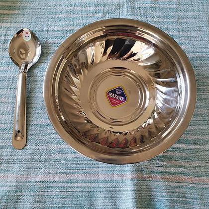 Assiette creuse indienne SHINE en inox