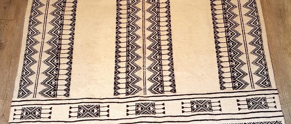 Tapis berbère Tunisien 100% laine, tissé main, pièce unique 117x235cm