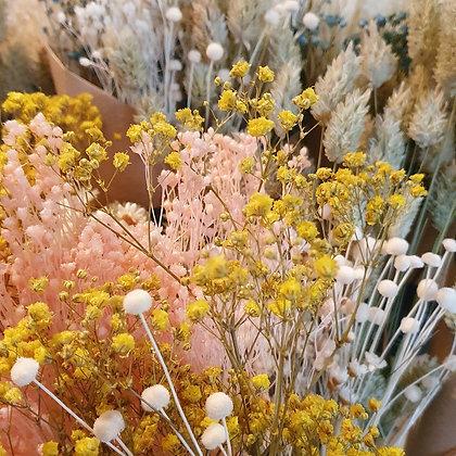 """Bouquet """"FOREVER"""" rose, bleu ou naturel, fleurs stabilisées"""