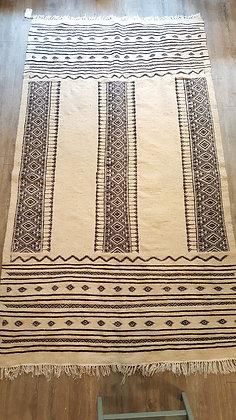 Tapis berbère 100% laine, tissé main, pièce unique 128x230cm