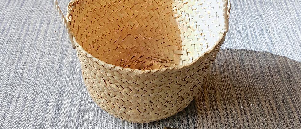 """Panier """"JERID"""" en feuilles de palmier dattier"""