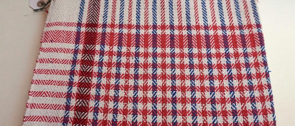 Couverture PONDI en coton Khadi ( rouge )