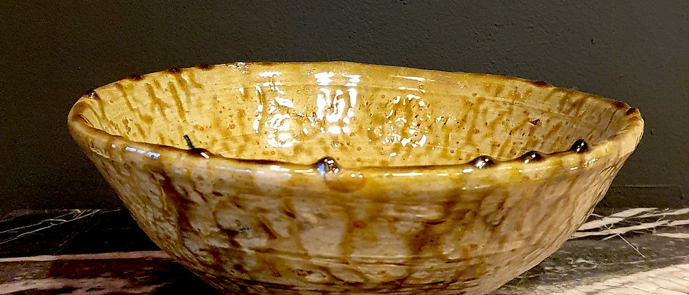 Saladier traditionnel en poterie de TAMGROUT