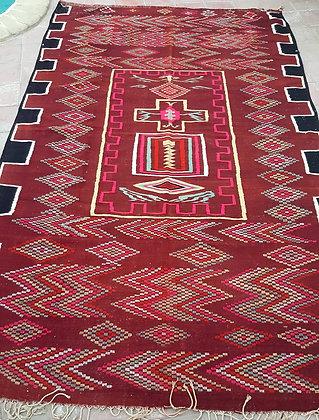 Tapis Kilim XL 3,30 m x 2,00 m , vintage du sud algérien