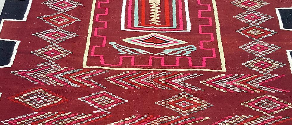 Tapis Kilim XL vintage du sud algérien