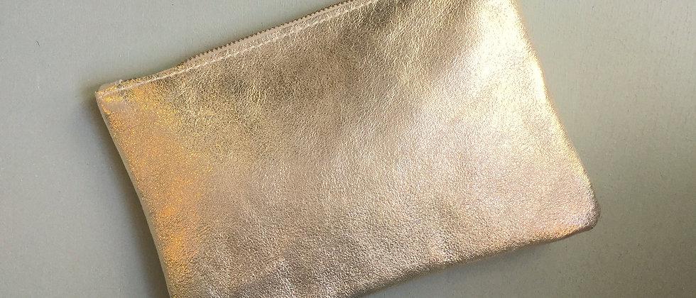 Pochette en cuir métallisé GOLD