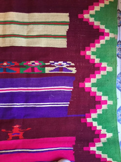 kilim tunisia vintage rug colorfull