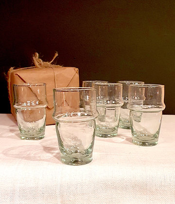 Mini verres traditionnels BELDI à expresso x6