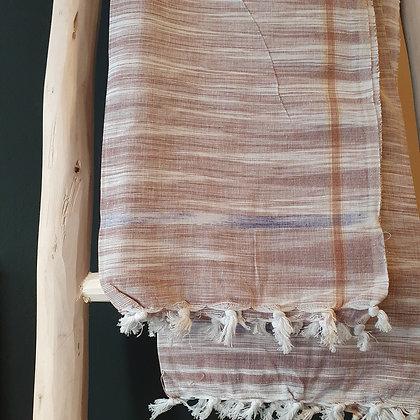 Serviette de yoga SUN, brun en coton Khadi