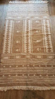 Tapis berbère en laine, Laine motifs brodés coton, tissé main 122x240cm