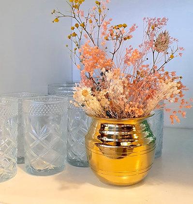 "Petit vase de temple or  ""SHAKTI"""