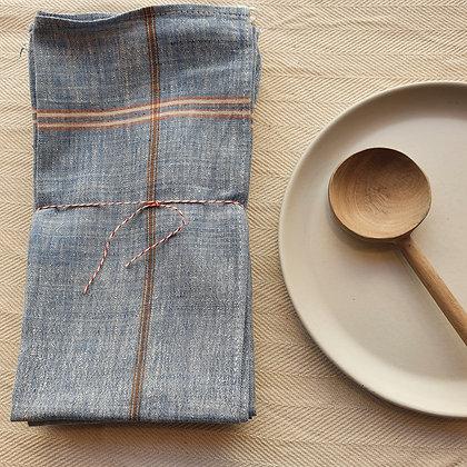 """Serviettes de table """"NOBLE KHADI"""" 100% lin - Lot de 4"""