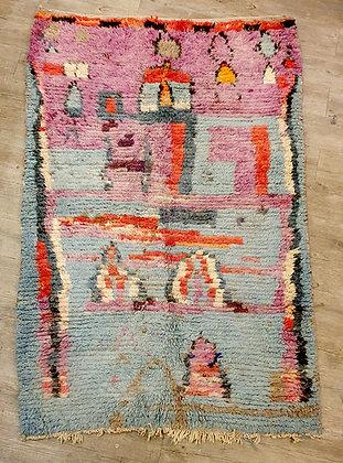 Petit tapis Boujad 173 cm x 112 cm, vintage, Maroc