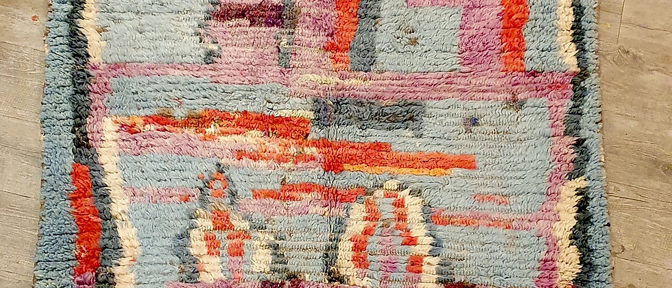 Petit tapis Boujad, vintage, Maroc