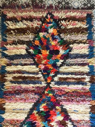 Tapis couloir AZILAL laine et coton