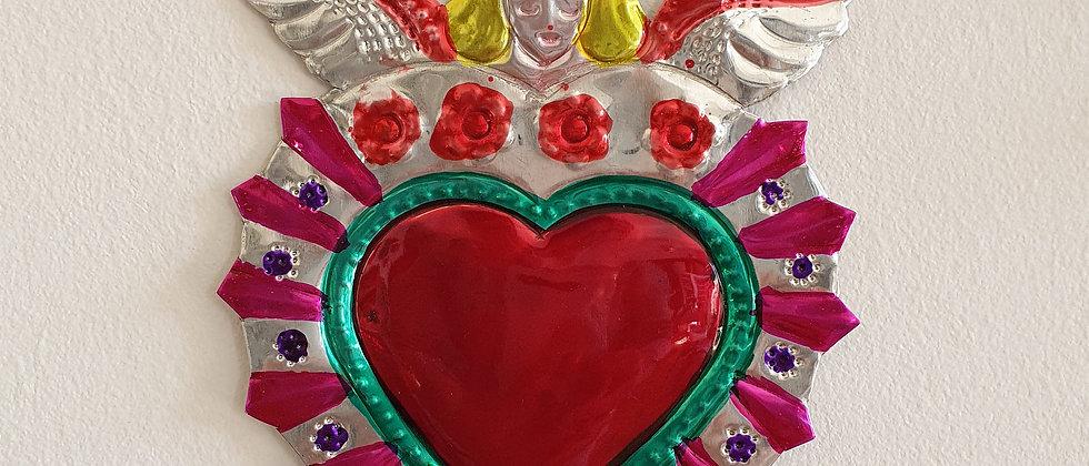 Ange et Coeur Ex-voto Méxicain (#102)