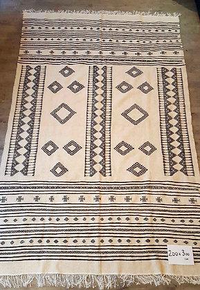 Grand tapis berbère 100% laine, tissé à la main