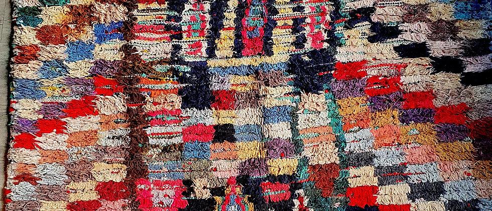 Tapis Boucherouite 135 x 200 cm vintage recyclé